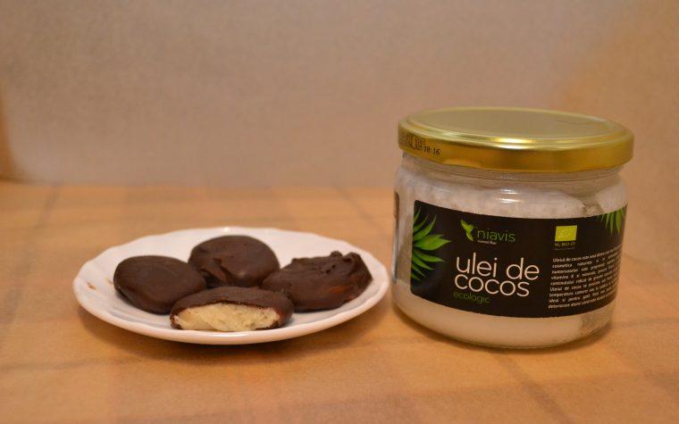 Bomboane De Ciocolata Cu Menta Si Ulei De Cocos