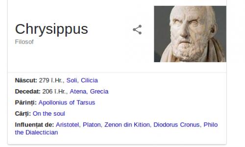De Ce A Murit Chrisippus Atunci Cand A Spus O Gluma?