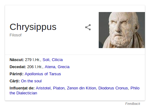 Chrisippus 279 îC – circa 206 îC