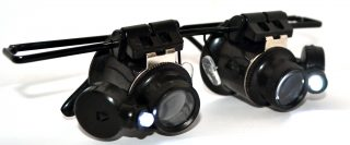 Glasses Type Watch Repair Magnifier With led light