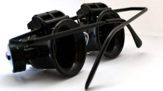 Ochelari Profesionali pentru Ceasornicarie si Electronica cu Lupa Marire 20x si Lumina LED